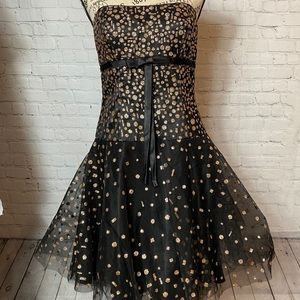 BETSY & ADAM BY LINDA BERNELL BLACK SPARKLE DRESS